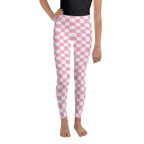 Earth 2 Jane 'Pink Checker' Youth Leggings