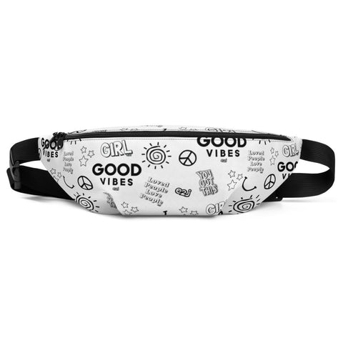 Earth 2 Jane 'Black & White Sticker' Fanny Pack