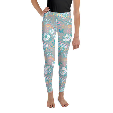 Earth 2 Jane 'VSCO Blue & Grey' Youth Leggings
