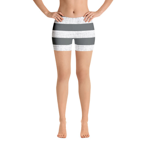 Earth 2 Jane 'Grey & White Stripe' Shorts