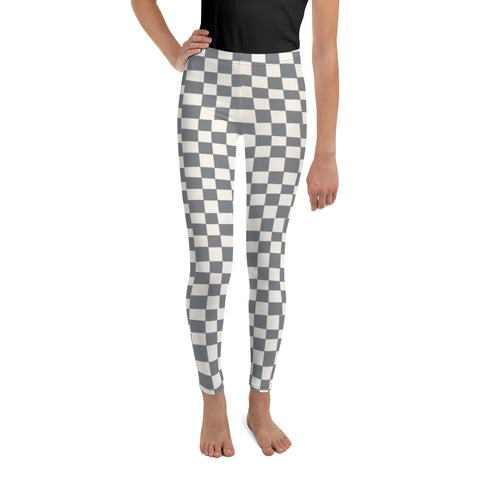 Earth 2 Jane 'Grey Checkers' Youth Leggings
