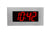 ONT4BKFMS:  4 Digit PoE Clock, Red LED, Flush Mounted with Stainless Steel Faceplate