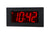 ONT4BKFM:  4 Digit PoE Clock, Red LED, Flush Mounted with Black Aluminum Faceplate