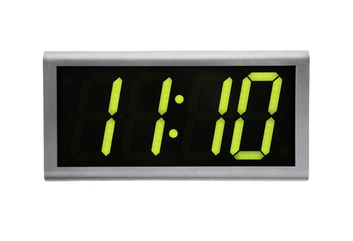 ONT4SS-G:  4 Digit PoE Clock, Green LED, 304 Stainless Steel Case