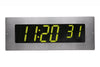 ONT6BKFMS-G:  6 Digit PoE Clock, Green LED, 304 Stainless Steel Flush Mount Faceplate