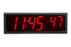 ONT6BK:  6 Digit PoE Clock, Red LED, Black Aluminum Case