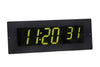 ONT6BKFM-G:  6 Digit PoE Clock, Green LED, Black Aluminum Flush Mount Faceplate
