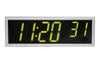 ONT6SS-G:  6 Digit PoE Clock, Green LED, Stainless Steel Case