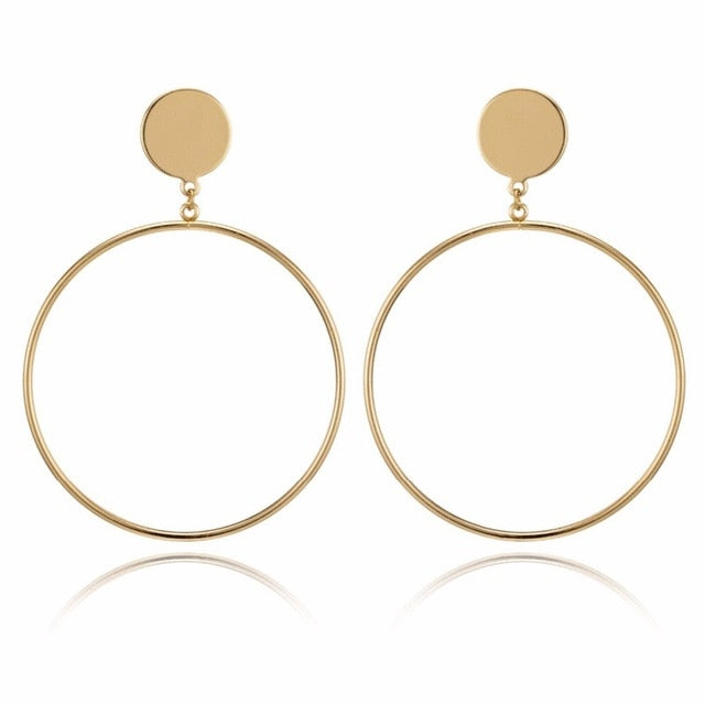 Hollow Big Round Earrings