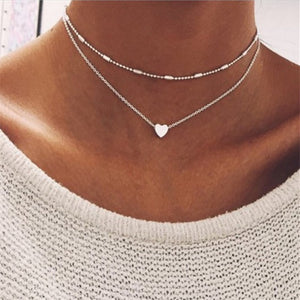 Love Heart Double Necklaces