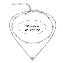 Load image into Gallery viewer, Love Heart Double Necklaces