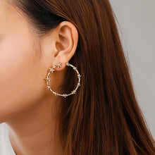Load image into Gallery viewer, Stary Circle Earrings