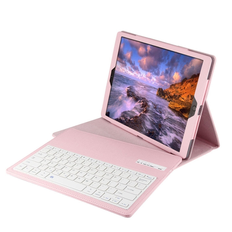Removeable Bluetooth Keyboard Leather Case for iPad Pro 12.9 Pink