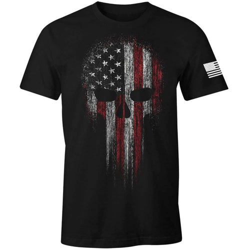 American Skull Flag Patriotic Men's T Shirt