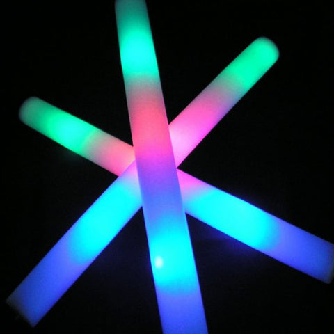 LED Light Up Foam Sticks- Glow Foam Sticks for Any event, Halloween Party, Birthday Party