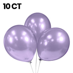 "Party Balloons, Pearlized Balloons, 12"" Metallic Balloons, Pastel Balloons, Lavender Balloons - Gift Expressions"