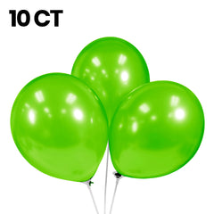 "10 Pack | 12"" Pearlized Latex Balloons"