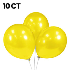 "Party Balloons, Pearlized Balloons, 12"" Metallic Balloons, Pastel Balloons, Yellow Balloons - Gift Expressions"