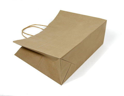 6 CT | Wide Large Brown Kraft Gift Bags