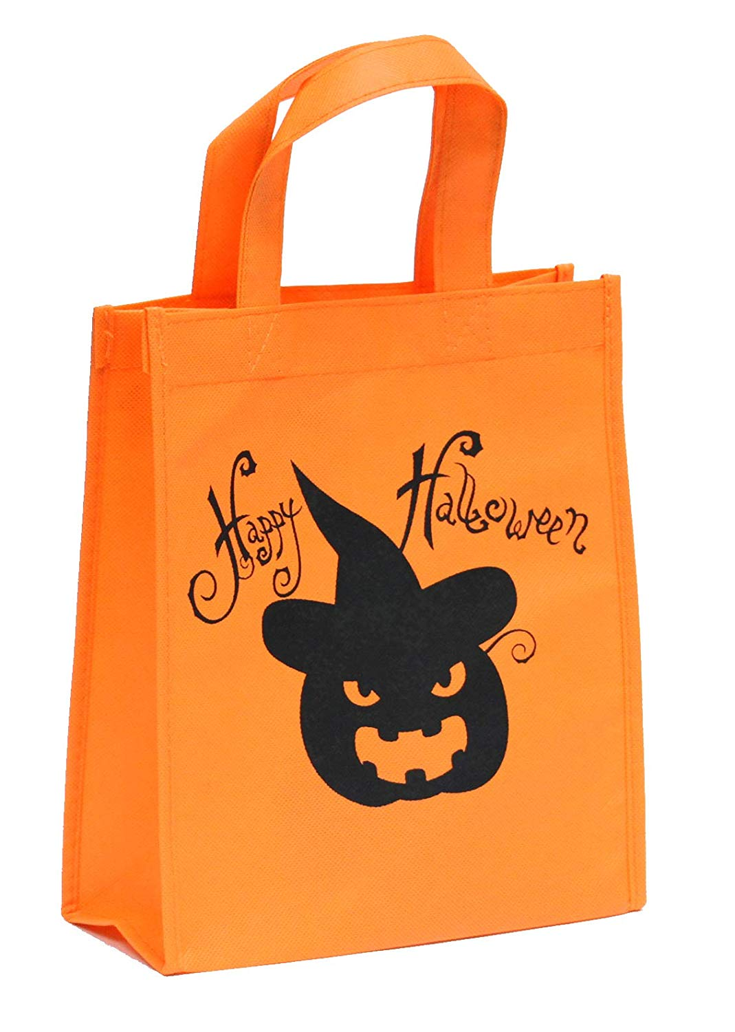 Halloween Reusable Trick or Treat Candy Bag [Orange Pumpkin]