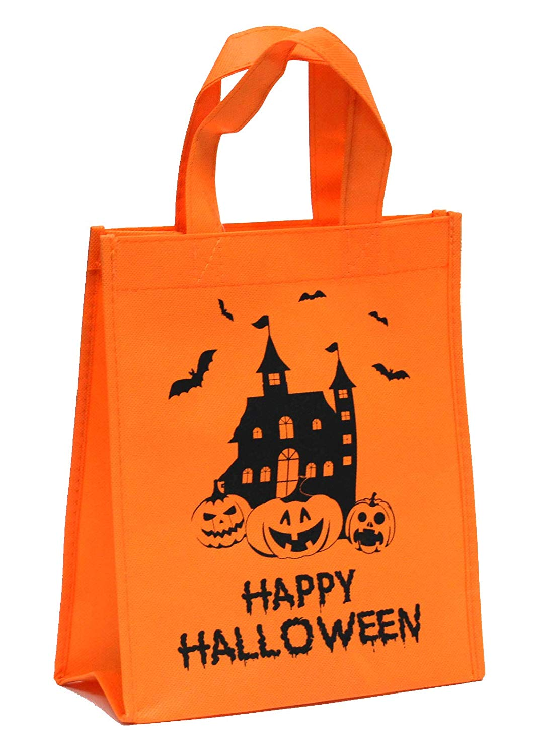 Halloween Reusable Trick or Treat Candy Bag [Orange Castle]