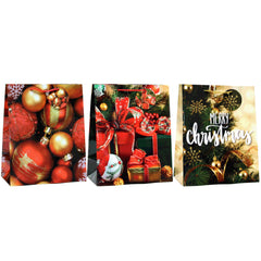 MY XMAS TRADITIONAL GLOSSY CHRISTMAS HOLIDAY GIFT BAGS