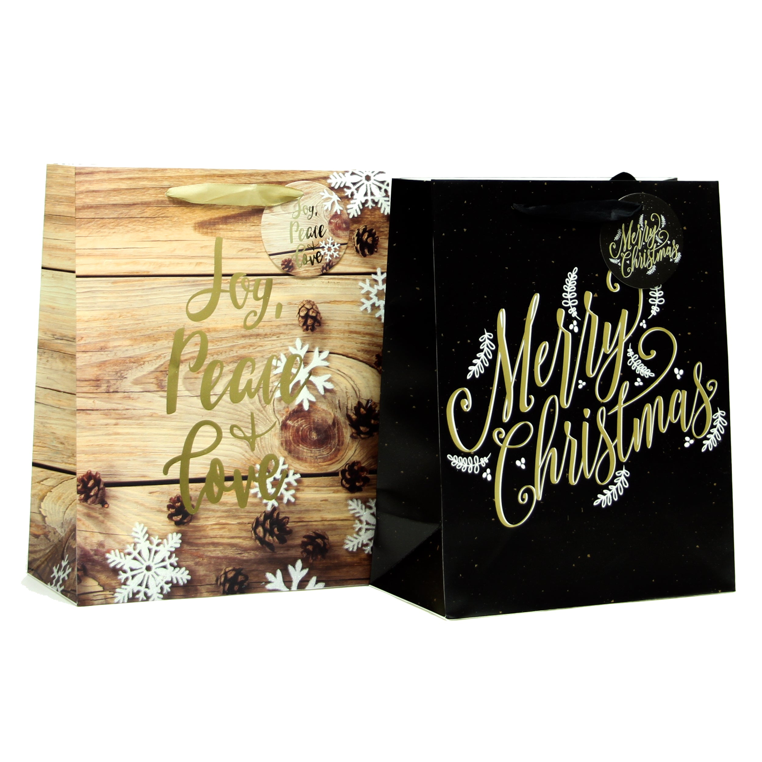 PINECONE LARGE CHRISTMAS HOLIDAY GIFT BAGS