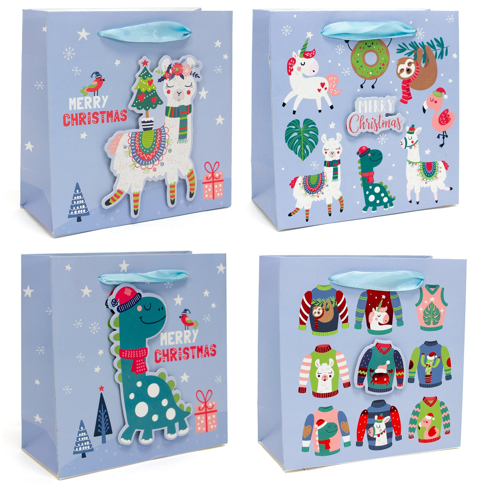 JUVIE ICONS SMALL CHRISTMAS HOLIDAY GIFT BAGS