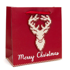 SWEATER DEER SMALL CHRISTMAS HOLIDAY GIFT BAGS