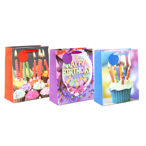 B-DAY PARTY LARGE BIRTHDAY GIFT BAGS