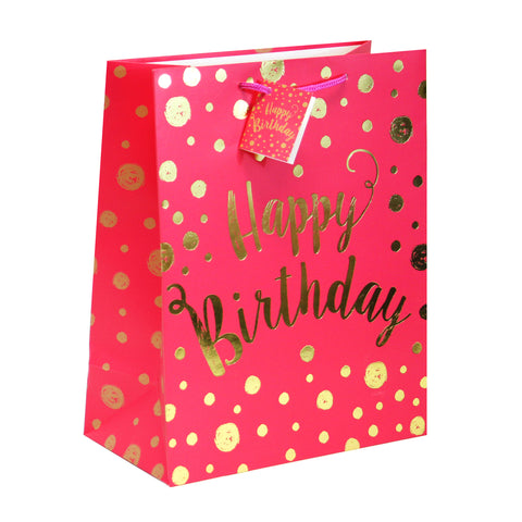 B-DAY WISHES MEDIUM SIZE GIFT BAGS