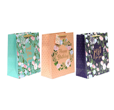 FLORAL BIRTHDAY GIFT BAGS