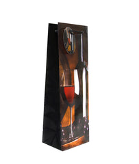 12 CT | Glossy Wine Liquor Bottle Gift Bags