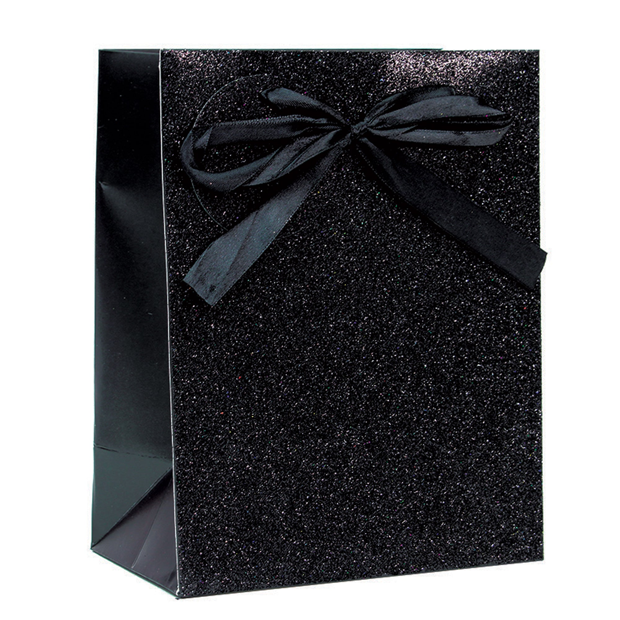 BLACK SPARKLE GLITTER LARGE GIFT BAG