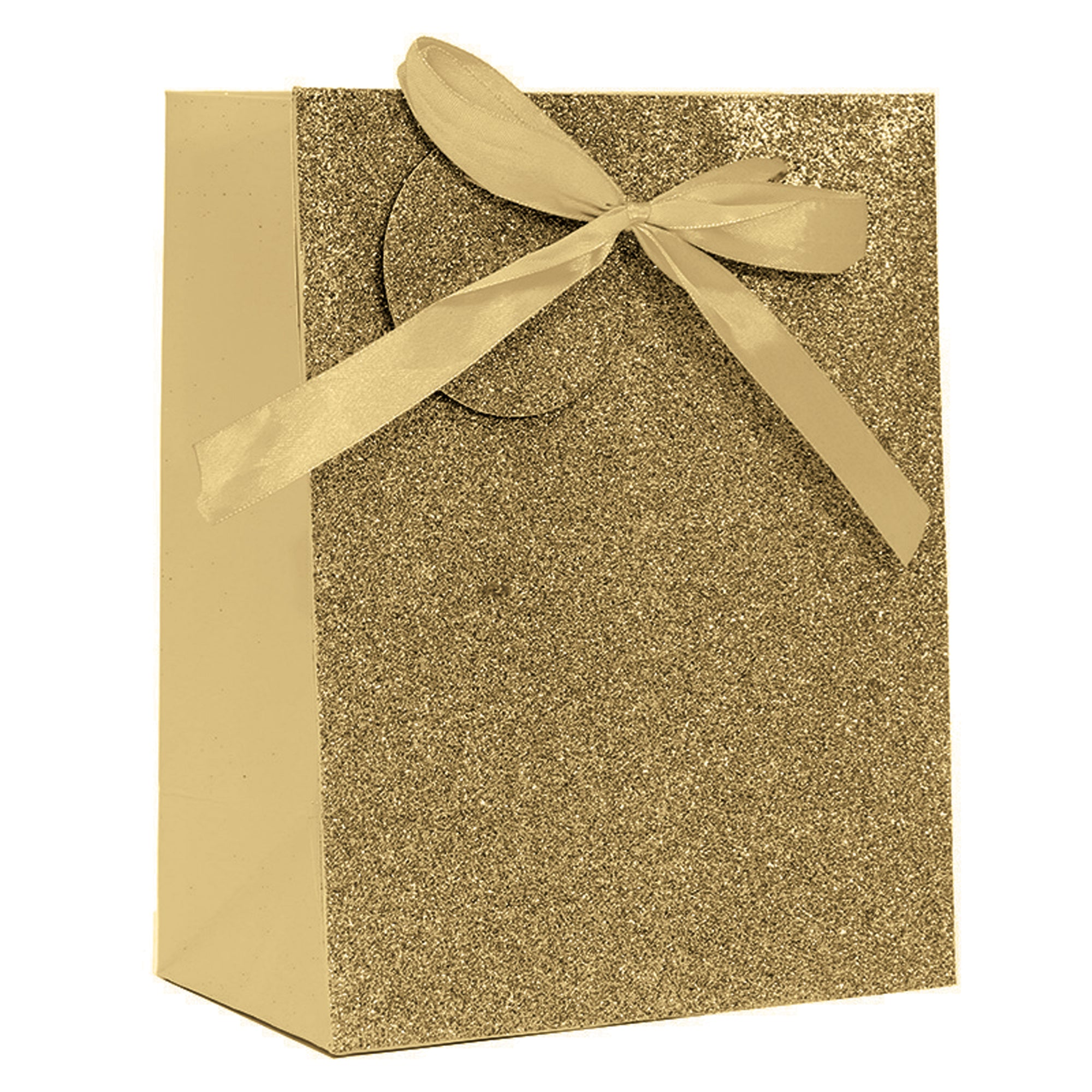 GOLD SPARKLE GLITTER LARGE GIFT BAG