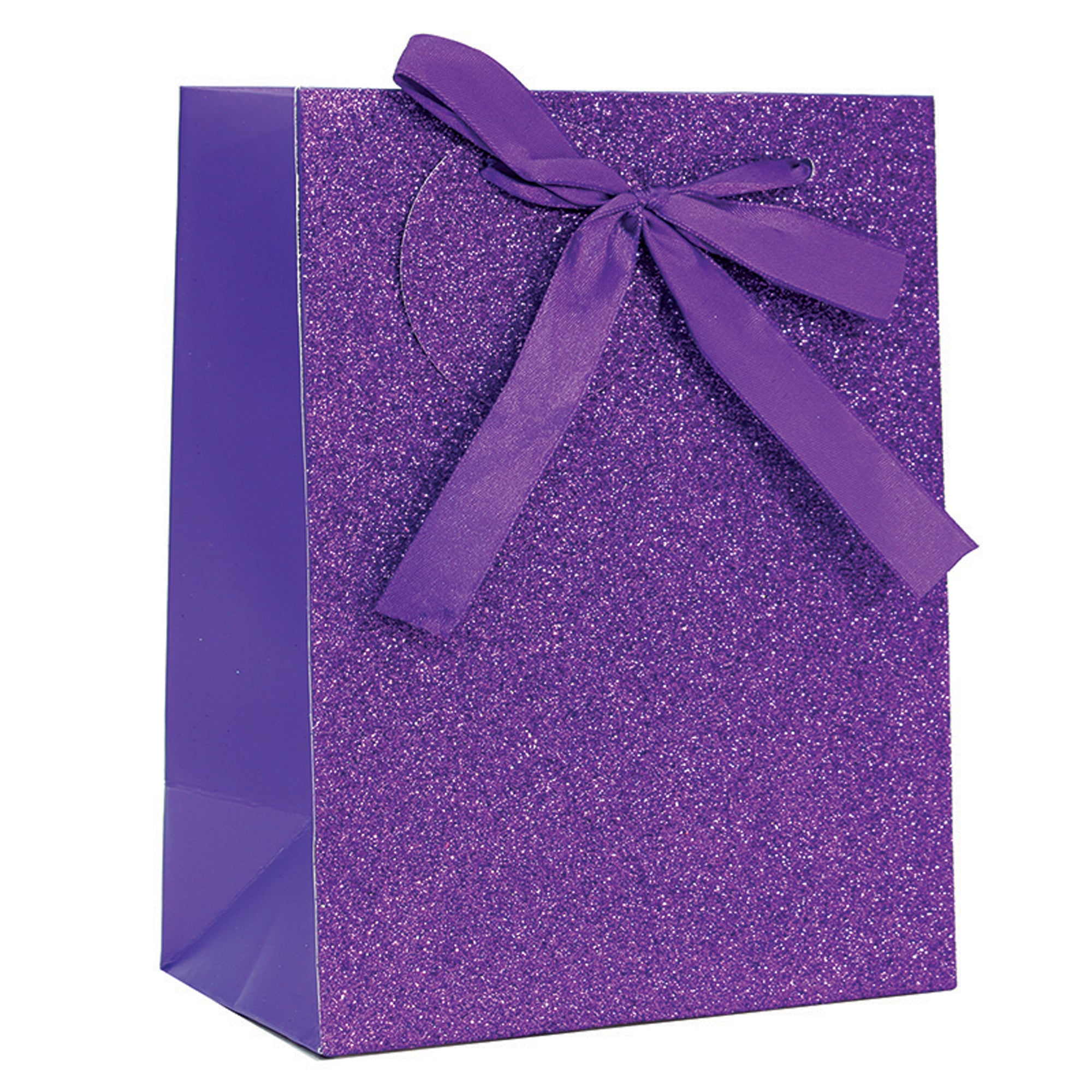 PURPLE SPARKLE GLITTER GIFT BAG