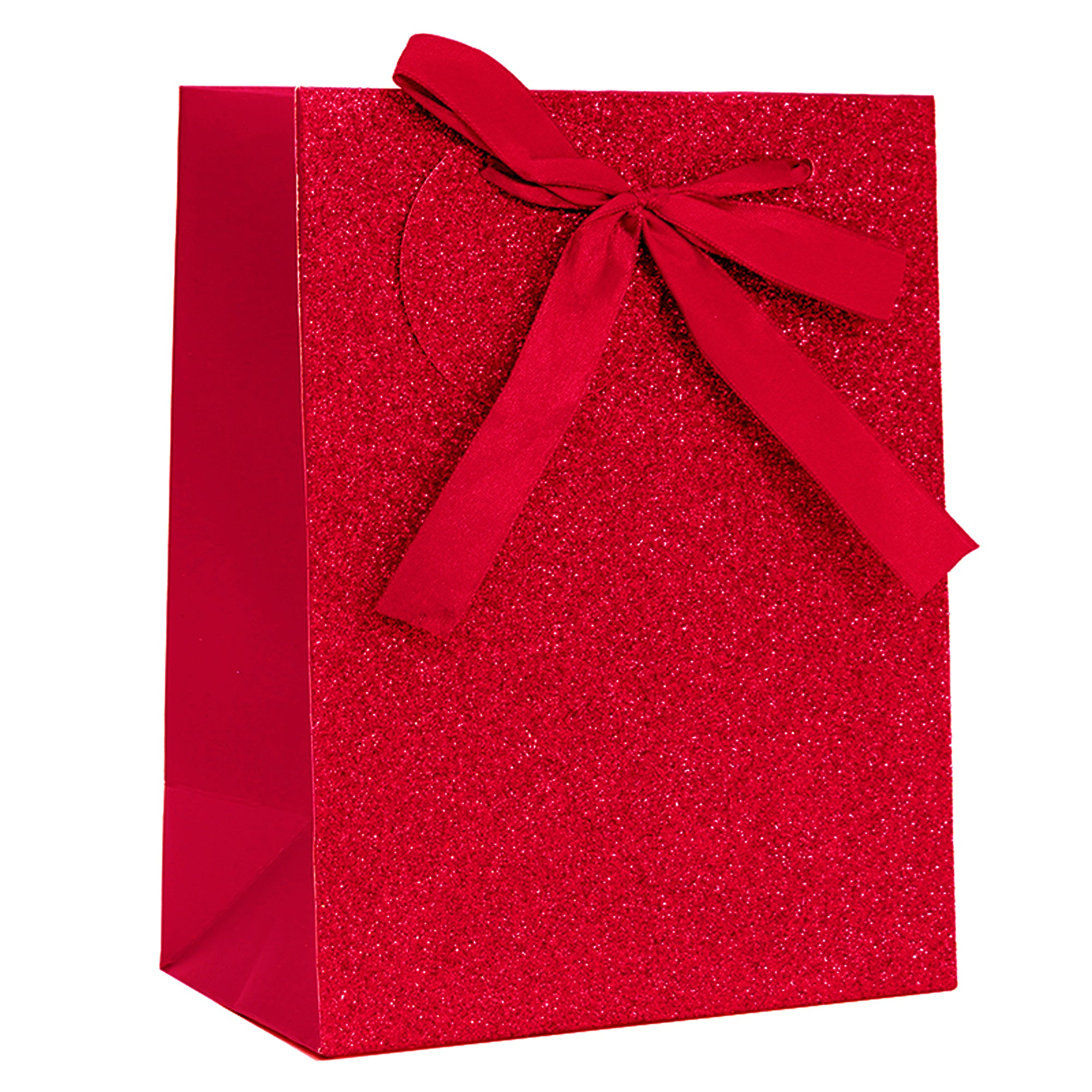 RED SPARKLE GLITTER GIFT BAG