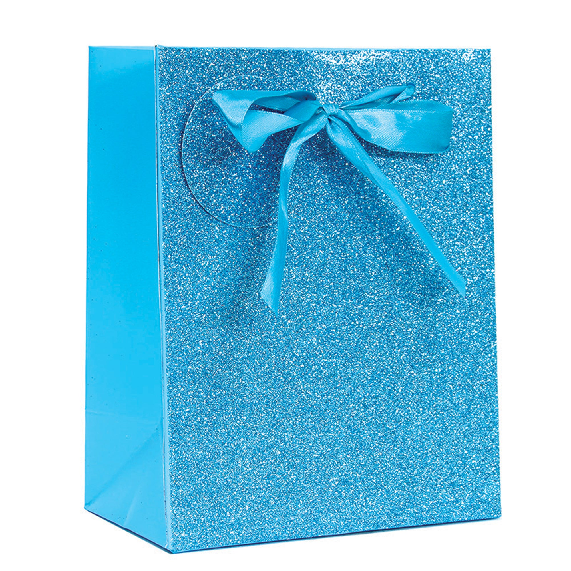TURQUOISE SPARKLE GLITTER LARGE GIFT BAG