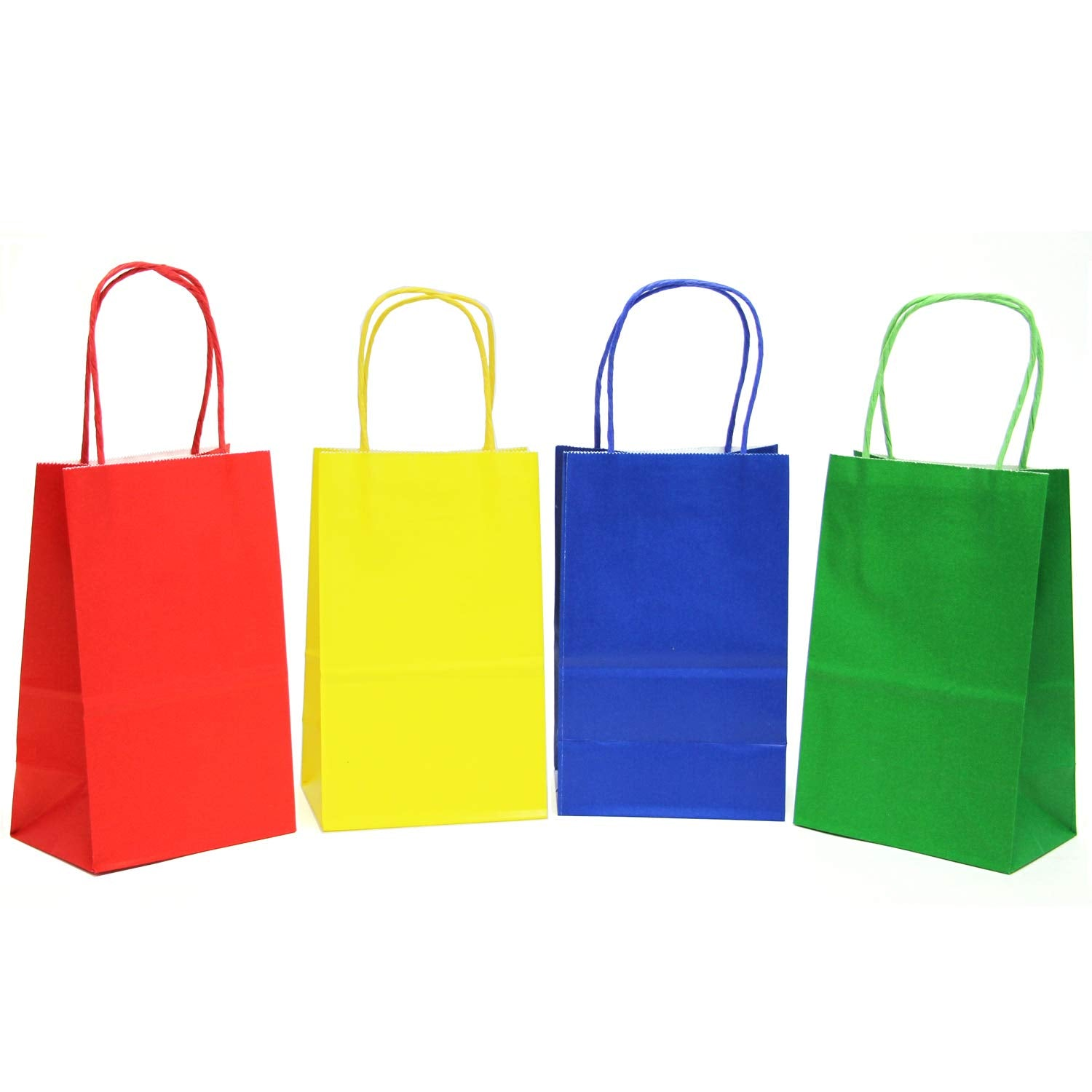 12 CT | Primary Color Kraft Bags