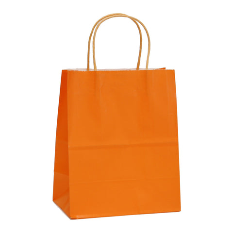 Orange Kraft Paper Gift Bags, Halloween DIY Kraft Bag, Kraft Paper Bags