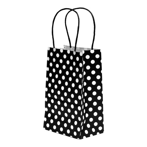 Black Polka Dot, Kraft Bags, Gift Bags, Paper Bags, Reusable Bags, Favor Bags, Wedding Favor Bags - Gift Expressions