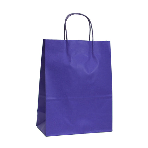Purple Kraft Paper Gift Bags, Halloween DIY Kraft Bag, Kraft Paper Bags