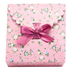 light pink floral pattern gift boxes, flower edge gift boxes, large favor gift boxes, scallop edge gift boxes, favor boxes, gift boxes, pastel gift boxes with ribbons, floral pattern gift boxes, baby shower favor gift boxes, wedding favor gift boxes, teacher's appreciation week gift boxes, gift boxes in bulk | Gift Expressions