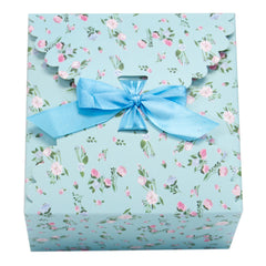 light blue floral pattern gift boxes, flower edge gift boxes, large favor gift boxes, scallop edge gift boxes, favor boxes, gift boxes, pastel gift boxes with ribbons, floral pattern gift boxes, baby shower favor gift boxes, wedding favor gift boxes, teacher's appreciation week gift boxes, gift boxes in bulk | Gift Expressions