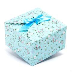 light blue floral gift boxes, flower edge gift boxes, large favor gift boxes, scallop edge gift boxes, favor boxes, gift boxes, pastel gift boxes with ribbons, floral pattern gift boxes, baby shower favor gift boxes, wedding favor gift boxes, teacher's appreciation week gift boxes, gift boxes in bulk | Gift Expressions