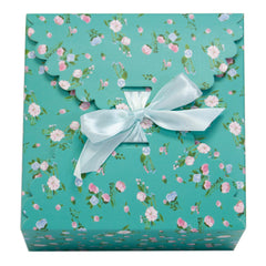 dusty mint gift boxes, flower edge gift boxes, large favor gift boxes, scallop edge gift boxes, favor boxes, gift boxes, pastel gift boxes with ribbons, floral pattern gift boxes, baby shower favor gift boxes, wedding favor gift boxes, teacher's appreciation week gift boxes, gift boxes in bulk | Gift Expressions