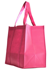 Non-Woven Bag, reusable grocery bag, fabric bags, reusable non-woven tote bags, hot pink grocery bags, school bags, lunch bags