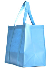 Non-Woven Bag, reusable grocery bag, fabric bags, reusable non-woven tote bags, light blue grocery bags, school bags, lunch bags