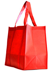 Non-Woven Bag, reusable grocery bag, fabric bags, reusable non-woven tote bags, Red grocery bags, school bags, lunch bags