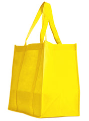 Non-Woven Bag, reusable grocery bag, fabric bags, reusable non-woven tote bags, Yellow grocery bags, school bags, lunch bags
